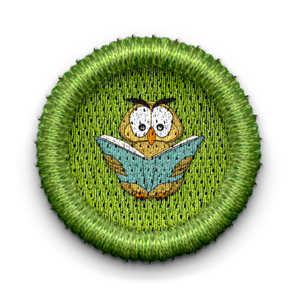 Owl patch with link leading to page about the Adult Enrichment Committee special interest group