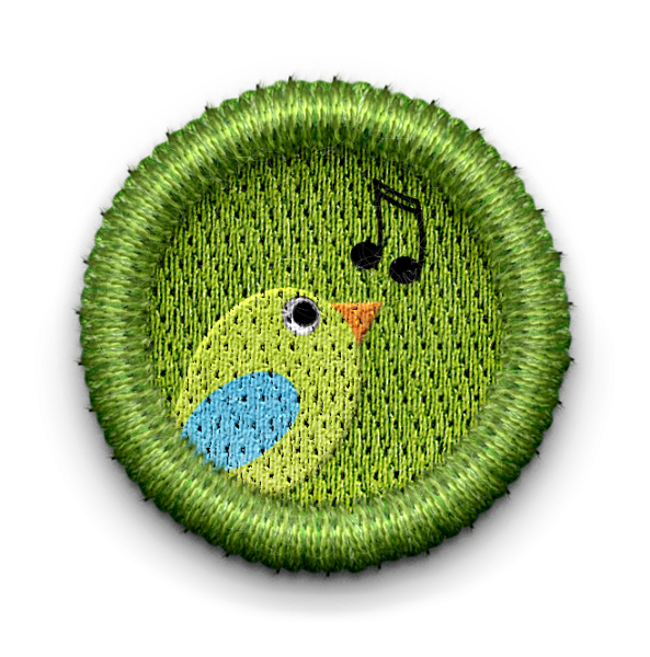 Songbird badge with link leading to SongBirds page