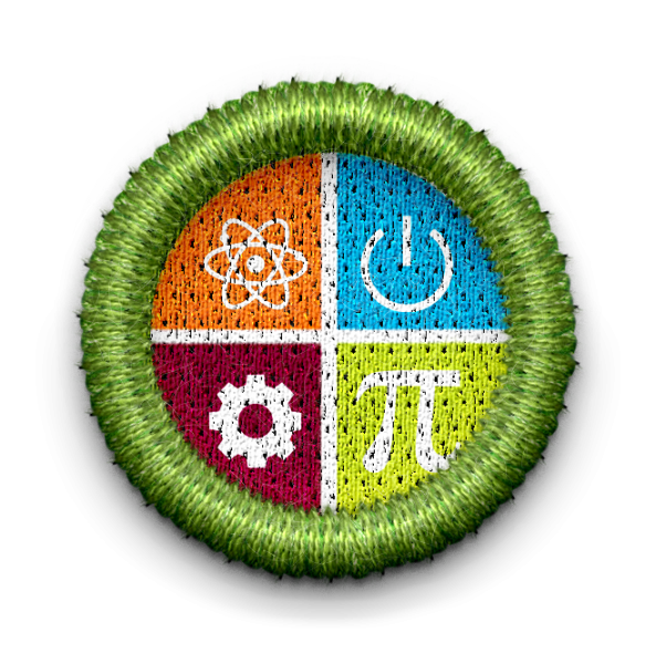 STEM badge with link leading to STEM group page